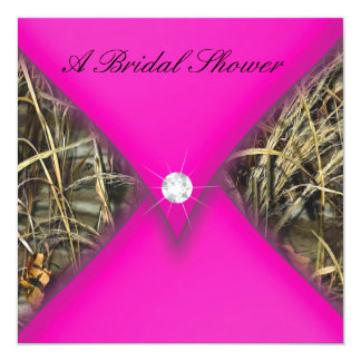 Pink and Black Camo Bridal Shower Card