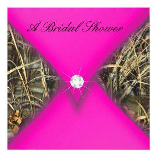 Pink and Black Camo Bridal Shower Invite