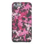 Pink and Black Camo iPhone 6 case
