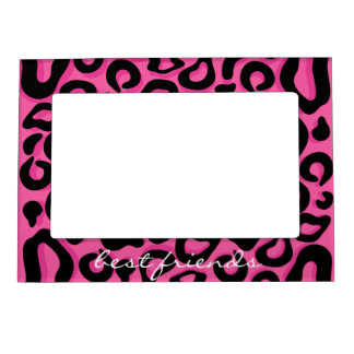 Pink and Black Cheetah Print Best Friends Frame