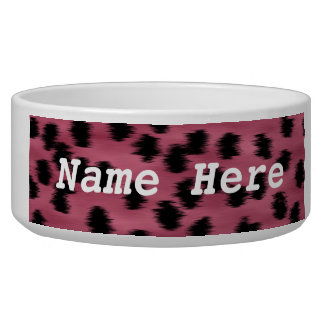 Pink and Black Cheetah Print Pattern. Bowl