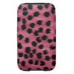 Pink and Black Cheetah Print Pattern. iPhone 3 Tough Covers