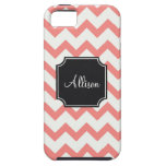 Pink and Black Chevron iPhone 5 Case