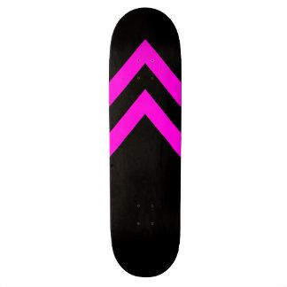 Pink and Black Chevrons Skateboard Deck