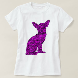 Pink and Black Chihuahua Silhouette T-Shirt