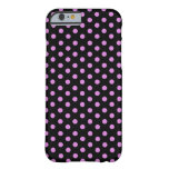 Pink and Black Color Polka Dots iPhone 6 Case