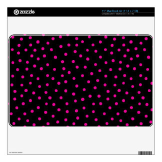 Pink And Black Confetti Dots Pattern Decal For The MacBook Air