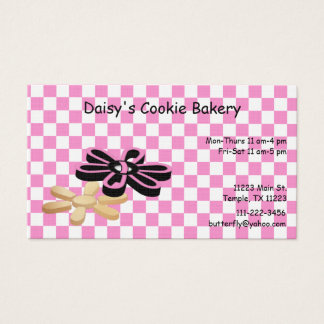 Pink and Black Cookie Bakery Business Card