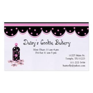 Pink and Black Cookie Jar Business Card