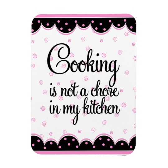Pink and Black Cooking Magnet
