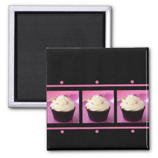Pink and Black Cupcake Business Products Magnet