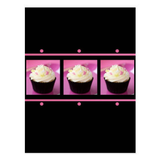 Pink and Black Cupcake Business Products Postcard