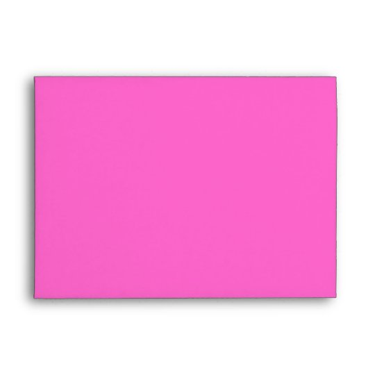 Pink and Black Custom Envelope