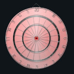 "Pink And Black Dartboard<br><div class=""desc"">Pink And Black Dart Board. Customizable with any text of your choice. Design &#169; www.justbyjulie.com</div>"