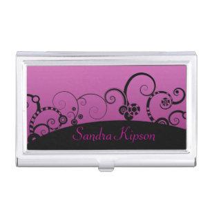 Decorative business card holders cases zazzle pink and black decorative business card holder colourmoves