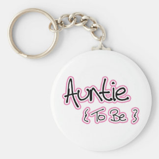 Pink and Black Design for Aunts Basic Round Button Keychain