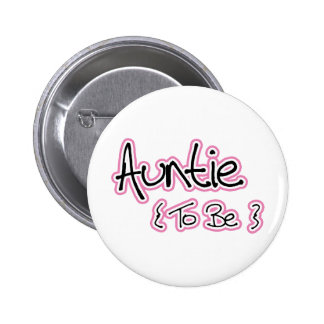 Pink and Black Design for Aunts Button