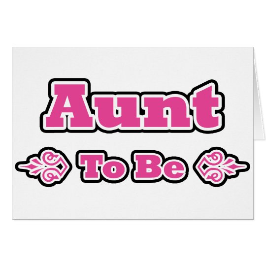 Pink and Black Design for Aunts Card