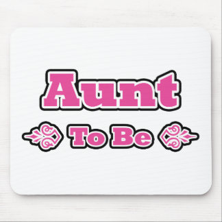 Pink and Black Design for Aunts Mouse Pad