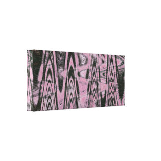 Pink and black design on wrapped canvas. canvas print