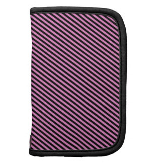 Pink and Black Diagonal Stripes Planners