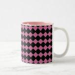 Pink and Black Diamond Mug