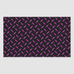 Pink and Black Diamond Plate Rectangle Stickers