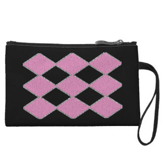 Pink and black diamond sparkle clutch