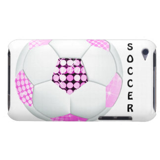 Pink and Black Disco Soccer Ball Barely There iPod Cover