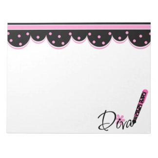 Pink and Black Diva Memo Pad