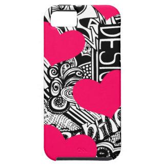 Pink and Black doodle Case
