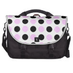 Pink and Black Dots Commuter Bags