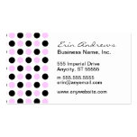 Pink and Black Dots pattern Business Card Template