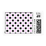 Pink and Black Dots pattern Postage Stamps