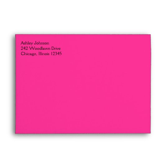 """Pink and Black Envelope for 5""""x7"""" Sizes"""