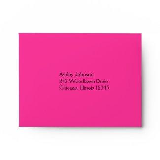 Pink and Black Envelope for RSVP Card envelope