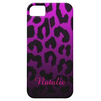 Pink and Black Fade Cheetah Print Phone Case