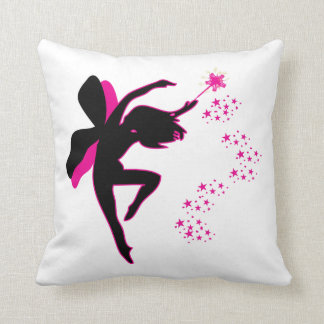 Pink and Black Fairy Pillow