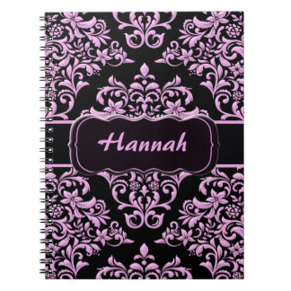 Pink and Black Fanatic Spiral Notebooks