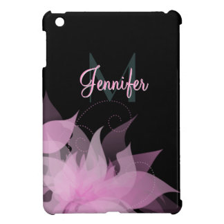 Pink and Black Floral Girls iPad Mini Case