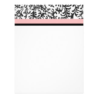 Pink and Black Floral Pattern Full Color Flyer