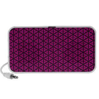 Pink and Black Floral Trellis Pattern Speakers