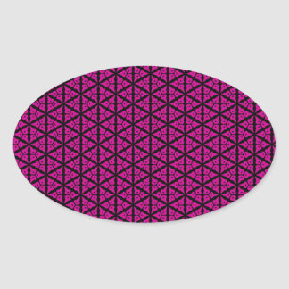 Pink and Black Floral Trellis Pattern Sticker