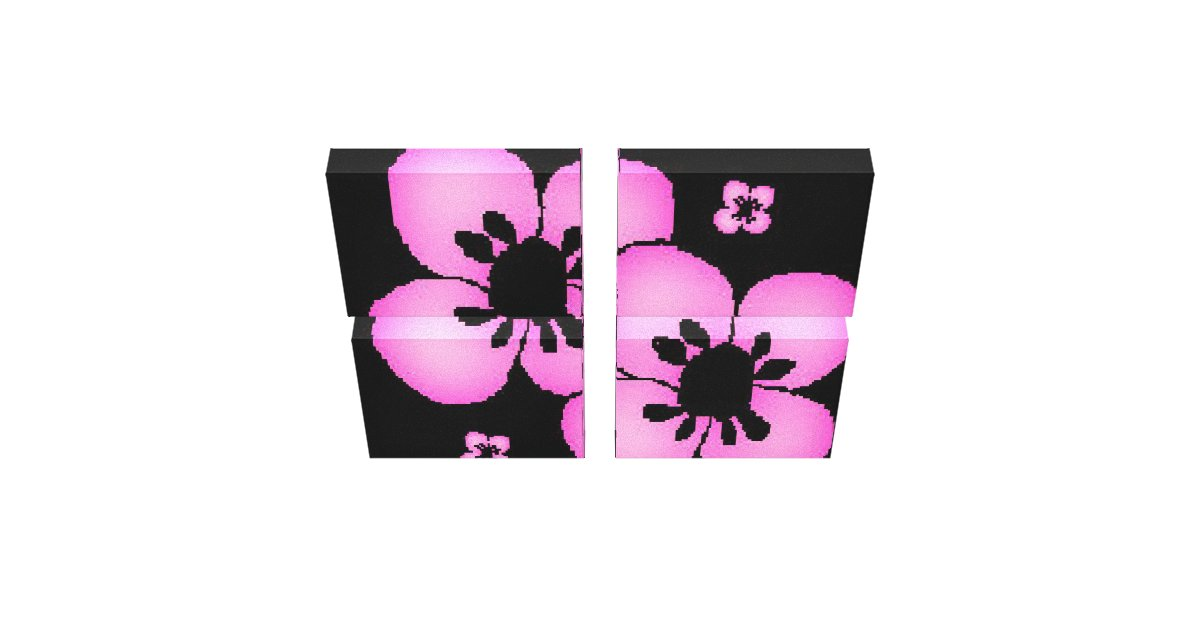Pink And Black Flower Drawing Pink and Black Flower ...