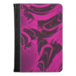 Pink and black fractal kindle case