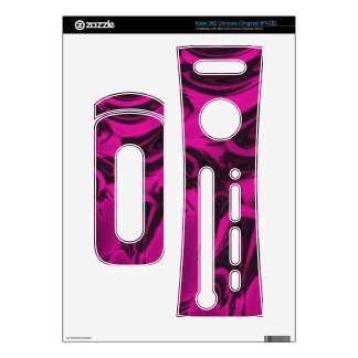 Pink and black fractal xbox 360 decals