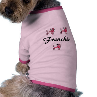 Pink and Black French Poodle Doggie Tee