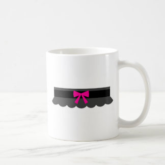 Pink and Black Garter Belt Coffee Mug