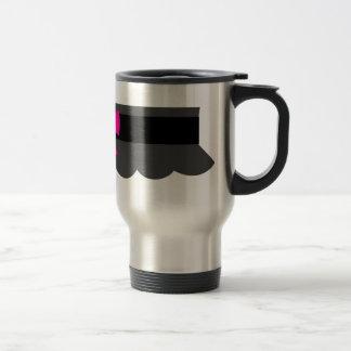 Pink and Black Garter Belt Travel Mug