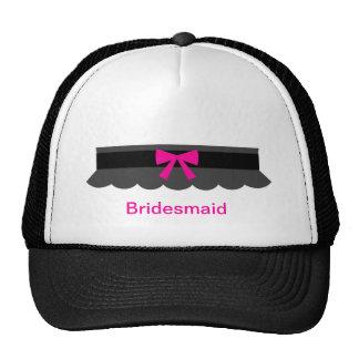 Pink and Black Garter Belt Trucker Hat